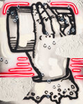 Paintings, Josh Reames (b. 1985). Right Hand, 2016. Acrylic and spray paint on canvas. 30 x 24 inches (76.2 x 61 cm). Signed, dated...