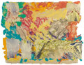 Works on Paper, Sam Gilliam (b. 1933). Mibs #5, 1977. Mixed media on handmade paper pulp. 22-1/2 x 29 inches (57.2 x 73.7 cm). Signed, d...