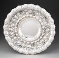 Silver & Vertu, An Italian Silver Repoussé Platter, late 20th century . Marks: STERLING BY GRAND, ITALY, 925. 17-1/4 inches (43.8 cm). 5...