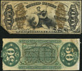 Fractional Currency:Third Issue, Fr. 1331SP 50¢ Third Issue Spinner Narrow Margin Back Ext...