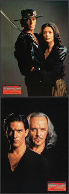 "The Mask of Zorro (Columbia Tri-Star, 1998). Very Fine. German Lobby Cards (2) (8.25"" X 11.75""). Action. ... (..."