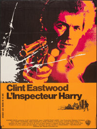 """Dirty Harry (Warner-Columbia, 1972). Folded, Very Fine-. French Grande (46"""" X 61""""). Crime"""