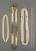 American Indian Art:Beadwork and Quillwork, Seven Plains / Plateau Necklaces... (Total: 8 )