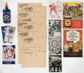 Hockey Cards:Lots, Vintage Bee Hive Ephemera Collection (36 Items) With Ads, Booklets, Note Pads, Team Emblem and Original Mailing Envelopes. ...