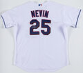 Baseball Collectibles:Uniforms, 2006 Phil Nevin Game Worn & Signed Texas Rangers Jersey....