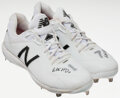 """Baseball Collectibles:Uniforms, 2018 Mitch Haniger """"Turn Ahead the Clock"""" Game Worn & Signed Cleats. ..."""