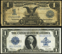 Fr. 233 $1 1899 Silver Certificate Good-Very Good; Fr. 237 $1 1923 Silver Certificate Very Fine. ... (Total: 2 notes)