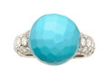 Estate Jewelry:Rings, Turquoise, Diamond, White Gold Ring, de Grisogono. ...