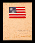 Explorers:Space Exploration, Apollo 8 Flown American Flag on Crew-Signed Presentation, with Email Authentication by Steve Zarelli....
