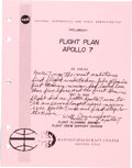 "Explorers:Space Exploration, Walt Cunningham Signed and Annotated NASA ""Preliminary Fli..."