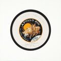 Explorers:Space Exploration, Apollo 13 Flown Beta Cloth Mission Insignia Originally from the Personal Collection of Mission Commander James Lovell, Signed ...
