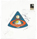 """Explorers:Space Exploration, Apollo 8 Crew-Signed Beta Cloth Mission Insignia with """"Apollo 8"""" Stamp First Day Canceled, with Astronaut Central Certificate ..."""
