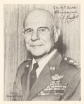 """Explorers:Space Exploration, Air Force General J. H. """"Jimmy"""" Doolittle Signed Photo."""