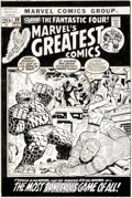 Original Comic Art:Covers, Jim Starlin and Joe Sinnott Marvel's Greatest Comics #39 Cover Fantastic Four and Black Panther Original Art (Marv...