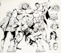 Original Comic Art:Illustrations, Luke McDonnell Who's Who: The Definitive Directory of the DC Universe #22 Suicide Squad Illustration Original Art ...