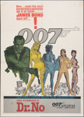 "Movie Posters:James Bond, Dr. No (United Artists, 1962). Fine- on Paper. Trimmed One Sheet (Approximately 26.75"" X 36.25"") Colored Smoke Style. Mitche..."