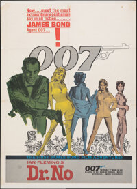 """Dr. No (United Artists, 1962). Fine- on Paper. Trimmed One Sheet (Approximately 26.75"""" X 36.25"""") Colored Smoke..."""