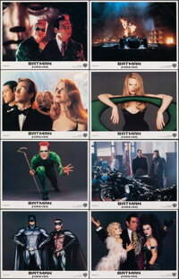"""Batman Forever (Warner Bros., 1995). Overall: Very Fine+. Lobby Card Set of 8 (11"""" X 14""""). Action. ... (Total:..."""