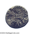 1652 3PENCE Pine Tree Threepence XF40 Bent Uncertified. Pellets at trunk. Noe-34, Crosby 1-A1, R.4. A wavy but attractiv...