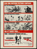 """Movie Posters:James Bond, Thunderball/You Only Live Twice Combo (United Artists, R-1970). Poster (30"""" X 40""""). James Bond...."""
