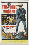 "Movie Posters:Western, The Lone Ranger and the Lost City of Gold (United Artists, 1958). One Sheet (27"" X 41""). Western...."