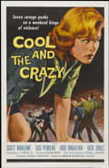 "Movie Posters:Bad Girl, Cool and the Crazy (American International, 1958). One Sheet (27"" X41""). Bad Girl...."