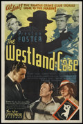 "Movie Posters:Mystery, The Westland Case (Universal, 1937). One Sheet (27"" X 41"").Mystery...."