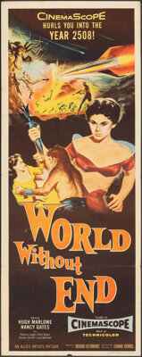"""World Without End (Allied Artists, 1956). Folded, Fine/Very Fine. Insert (14"""" X 35.75""""). Science Fiction"""
