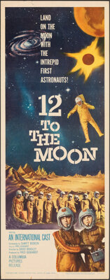 "12 to the Moon (Columbia, 1960). Rolled, Very Fine-. Insert (14"" X 36""). Science Fiction"