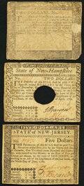 Maryland August 14, 1776 $2 Very Good; New Hampshire April 29, 1780 $2 Very Fine; New Jersey June 9, 1780 $5 Very Fi...