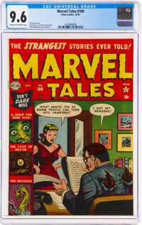 Marvel Tales #109 (Atlas, 1952) CGC NM+ 9.6 Cream to off-white pages