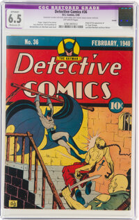 Detective Comics #36 Larson Pedigree (DC, 1940) CGC Apparent FN+ 6.5 Moderate (P) Off-white pages