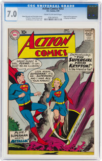 Action Comics #252 (DC, 1959) CGC FN/VF 7.0 Cream to off-white pages