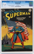 Golden Age (1938-1955):Superhero, Superman #24 (DC, 1943) CGC FN/VF 7.0 White pages....