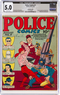 Police Comics #1 Harold Curtis Pedigree (Quality, 1941) CGC VG/FN 5.0 Off-white pages