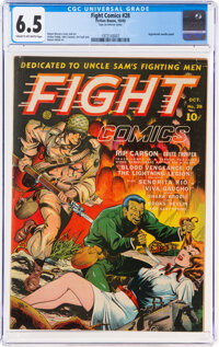 Fight Comics #28 (Fiction House, 1943) CGC FN+ 6.5 Cream to off-white pages