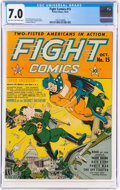 Golden Age (1938-1955):Superhero, Fight Comics #15 (Fiction House, 1941) CGC FN/VF 7.0 Light tan to off-white pages....