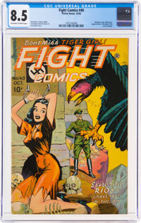 Fight Comics #40 (Fiction House, 1945) CGC VF+ 8.5 Off-white to white pages