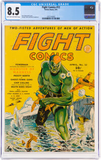 Fight Comics #12 (Fiction House, 1941) CGC VF+ 8.5 Light tan to off-white pages