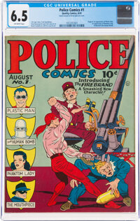 Police Comics #1 (Quality, 1941) CGC FN+ 6.5 Off-white pages