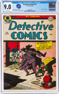 Golden Age (1938-1955):Superhero, Detective Comics #91 (DC, 1944) CGC VF/NM 9.0 Off-white pa...