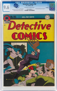 Detective Comics #95 Rockford Pedigree (DC, 1945) CGC NM+ 9.6 Off-white to white pages