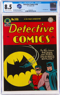 Detective Comics #108 (DC, 1946) CGC VF+ 8.5 Off-white to white pages