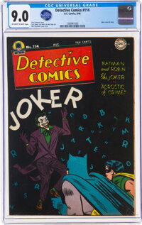 Detective Comics #114 (DC, 1946) CGC VF/NM 9.0 Off-white to white pages