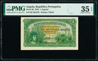 Angola Republica Portuguesa 1 Angolar 28.3.1942 Pick 68 PMG Choice Very Fine 35 EPQ