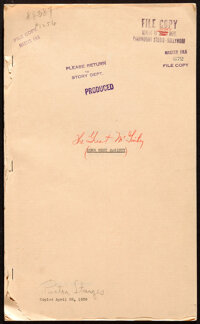 """The Great McGinty by Preston Sturges (Paramount, 1939). Fine/Very Fine. Master File Script (201 Pages, 8.5"""" X 14&qu..."""