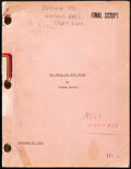 """Movie Posters:Comedy, The Devil and Miss Jones by Norman Krasna (RKO, 1941). Fine/Very Fine. Original Final Draft Script (170 Pages, 8.5"""" X..."""