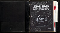 """Star Trek: Deep Space Nine, """"What You Leave Behind"""" (Paramount, 1999). Very Fine+. Autographed Production Bind..."""