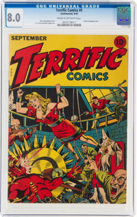 Terrific Comics #5 (Continental Magazines, 1944) CGC VF 8.0 Cream to off-white pages