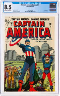 Captain America Comics #76 (Atlas, 1954) CGC VF+ 8.5 Off-white to white pages
